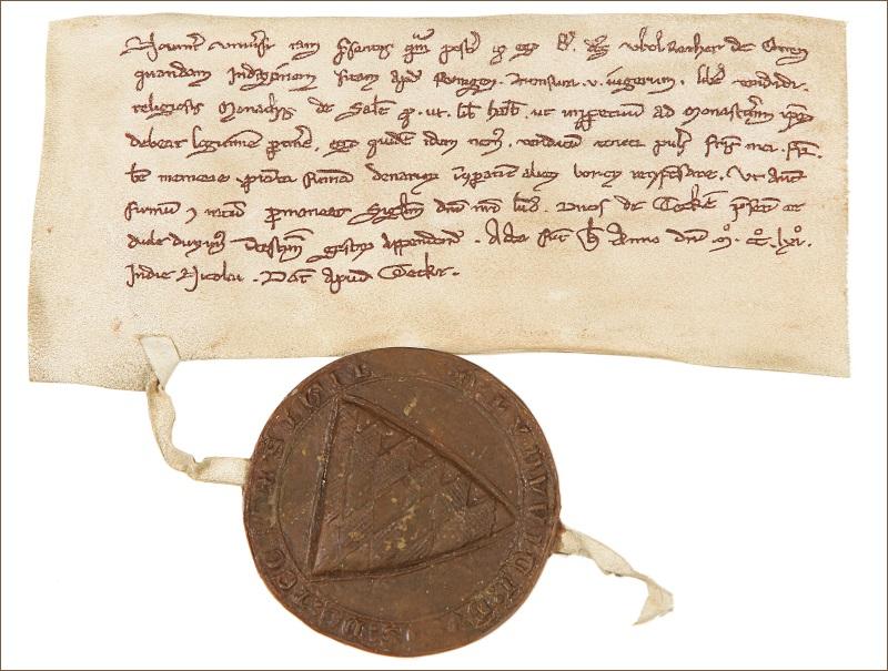 Urkunde mit der Erstnennung Owens 1261